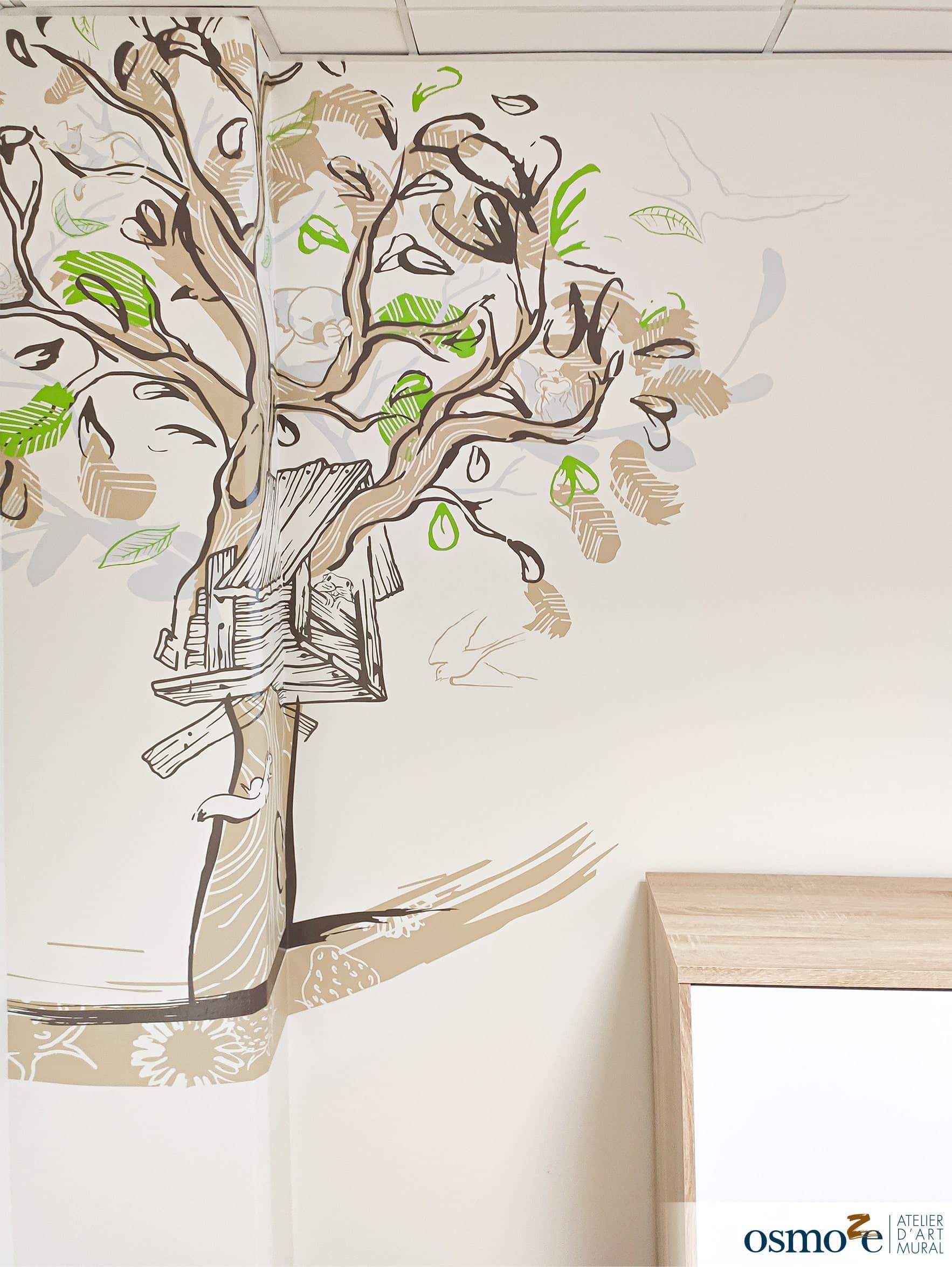 Design mural hôpital > MGEN