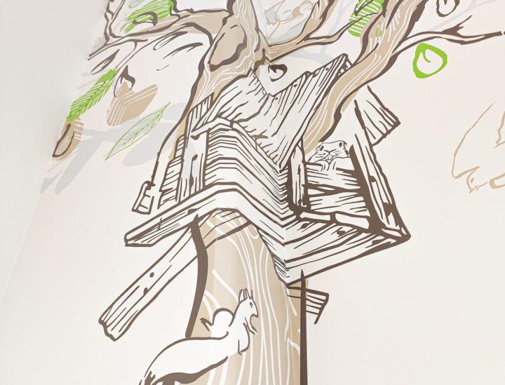 Design mural hôpital enfants > MGEN