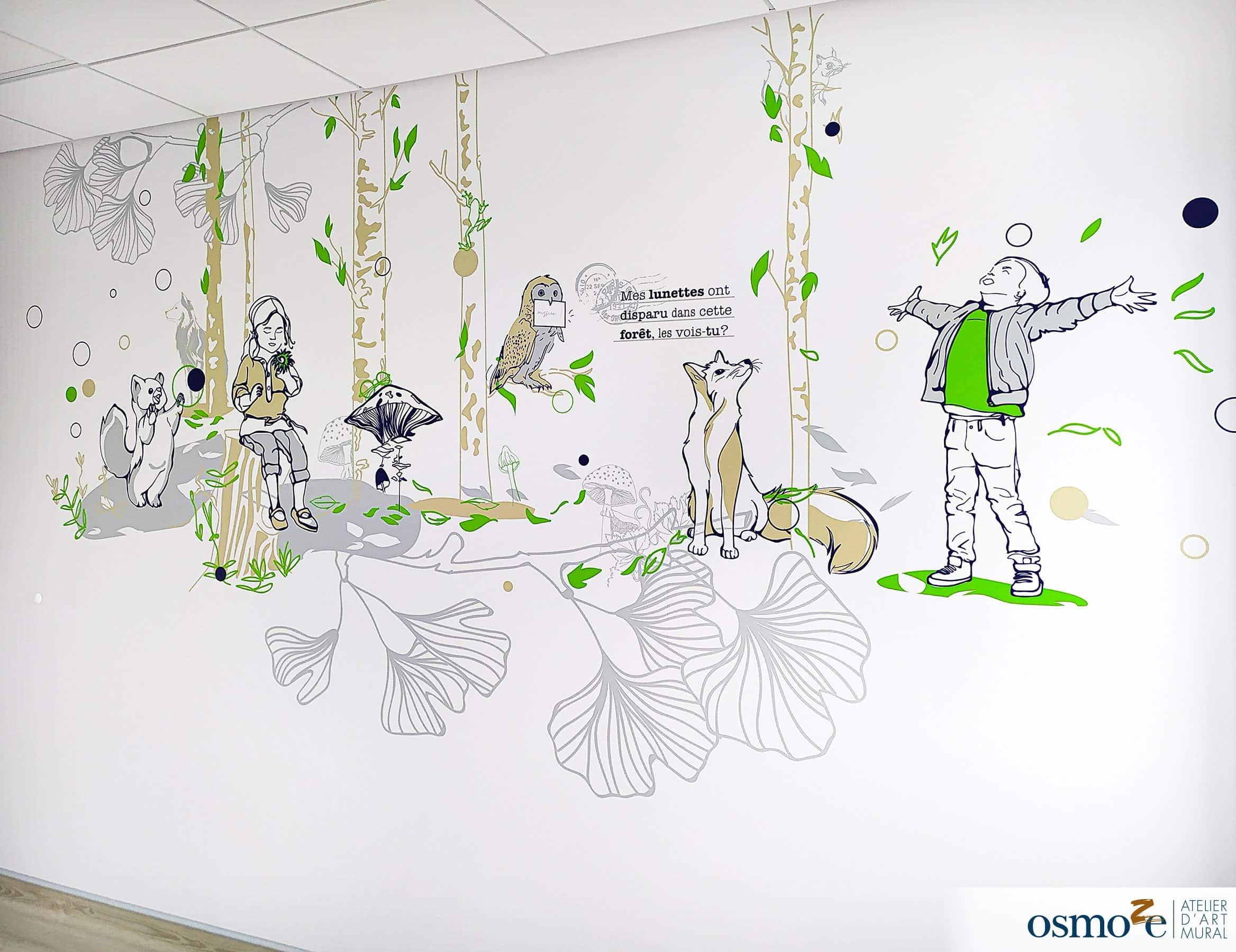 Fresque murale hôpital enfants > CHU Dijon