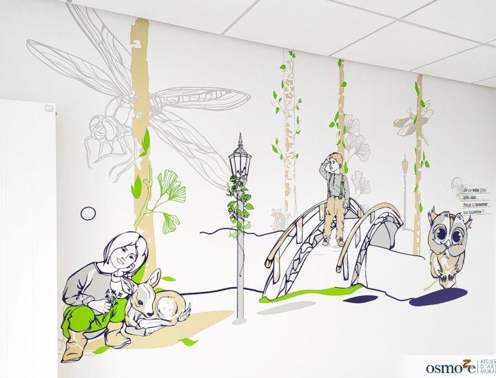 Fresques murales clinique enfants > CHU Dijon