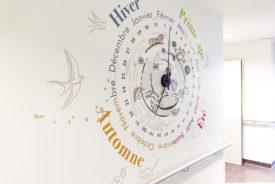 Horloge design hôpital enfants > MGEN