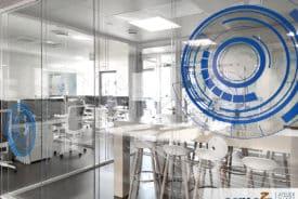Vitrophanie pour les bureaux SOLUCEO à Grenoble