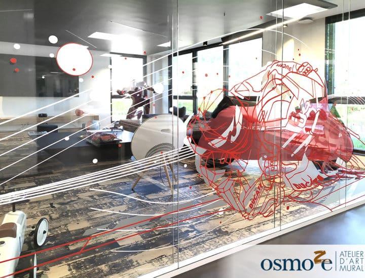 réalité augmentée, décoration murale, vitre