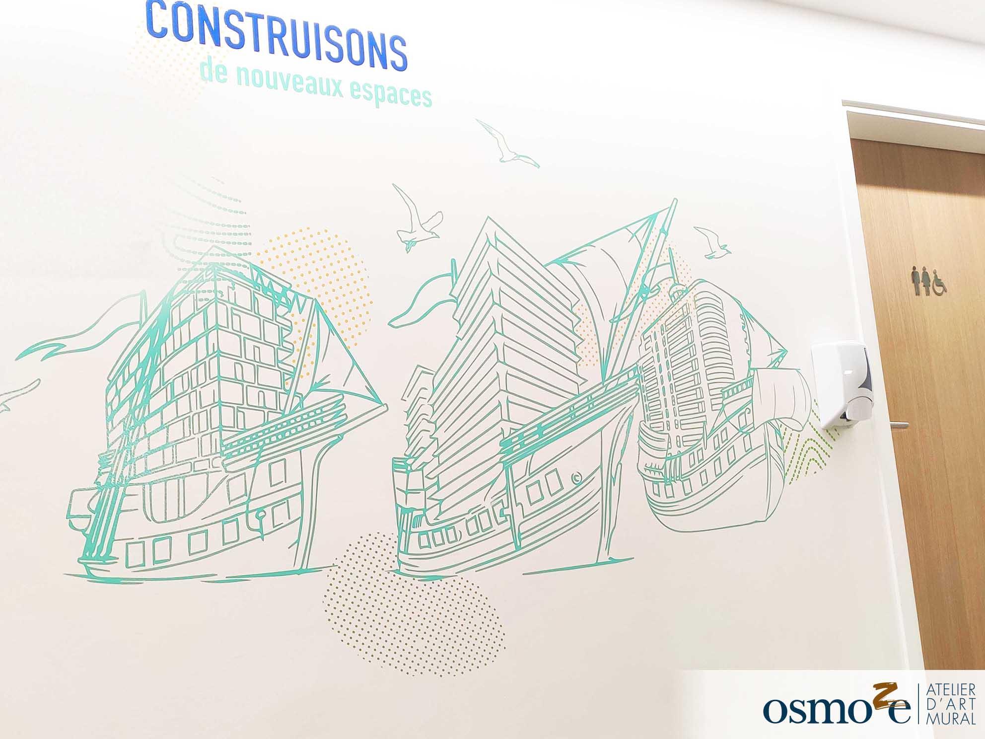 Osmoze > Décoration murale > ICADE > Paris