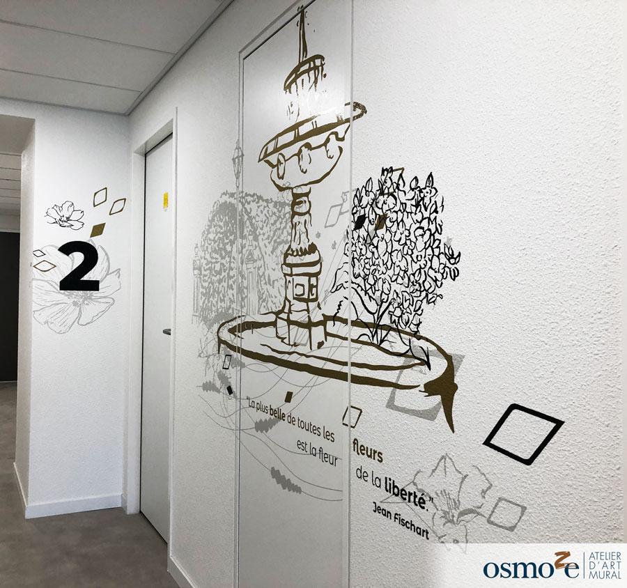 Décoration murale contemporaine > Crous > Paul Appell > STRASBOURG