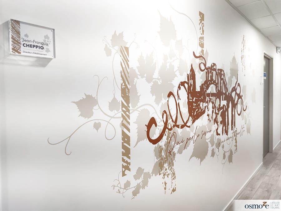 Décoration murale de l'Esat Le Bercail – ADAPEI VAR MÉDITERRANÉE (83)