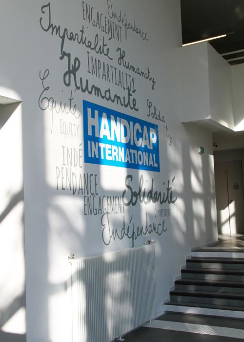 La Nouvelle Decoration Graphique Geante Et Murale Pour Handicap