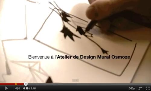 Notre création de design mural en vidéo. Du graphisme, de l'esthetisme made by Osmoze