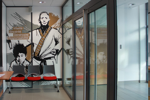 design>mural>dessin>judo>stickers>geant