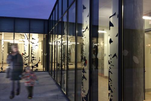 Osmoze - Atelier d'Art mural > décoration baies vitrées, mur rideau
