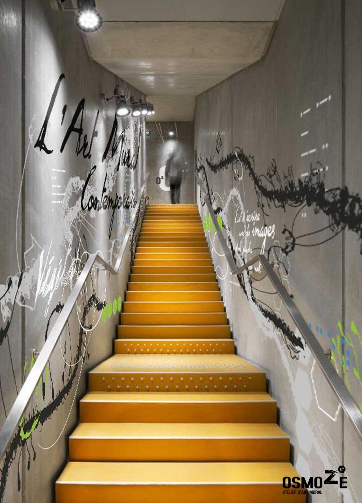 Design Mural > Art Osmoze > Cage escalier > Exposition