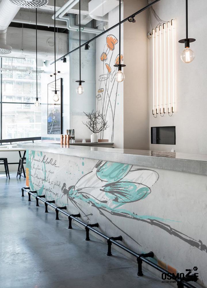 Décoration Restaurant Hôtel > Atelier Art Osmoze > Design Monumental