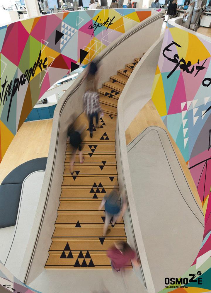 Décoration Entreprise > Atelier Art Osmoze > Design Monumental > Escalier