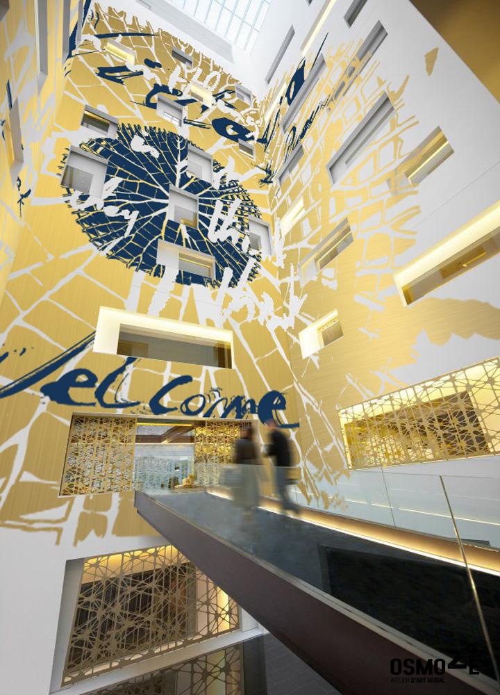 Décoration Hôtel > Atelier Art Osmoze > Design Monumental Hall