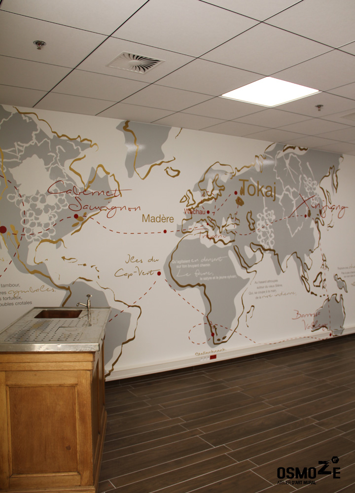 Décoration Murale > Salle Dégustation de vin > Centre commercial Leclerc > Sarrebourg