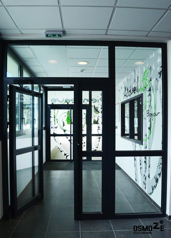 Décoration Murale & Signalétique > Vitrophanie Entrée > IME Institut Médico Educatif > Voreppe Isère