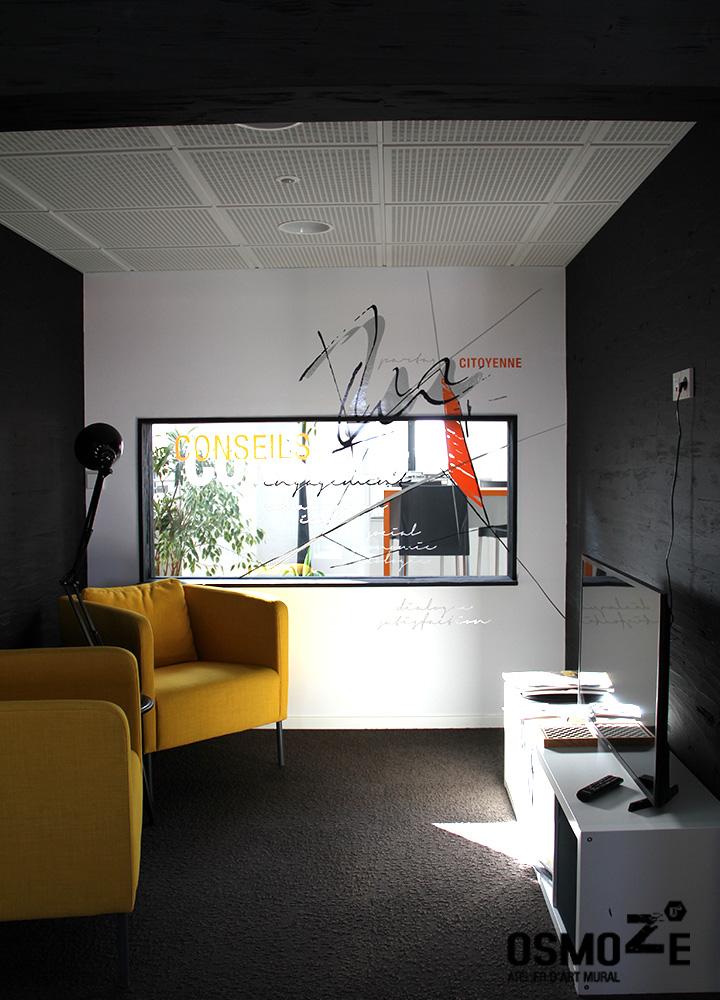 Décoration Murale Artistique  > Cabinet Architecture M Associé > Espace Attente