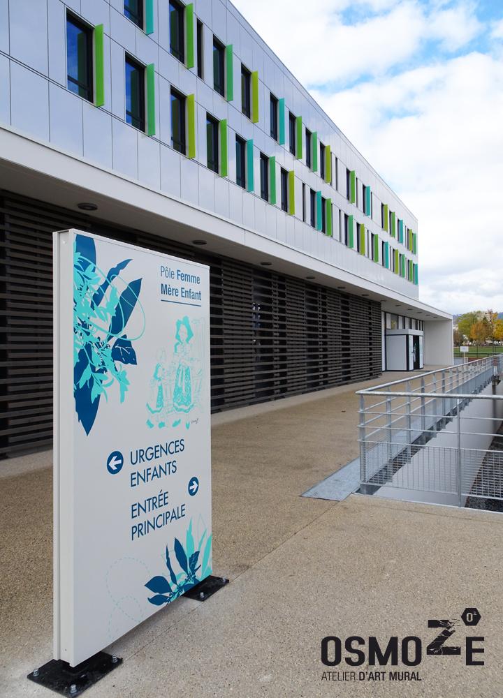 Décoration murale et signalétique artistique > Signalétique décorative > PFME COLMAR> Décoration Hôpital> Décoration murale artistique