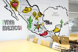 Décoration murale et signalétique artistique > Décoration murale design>Restaurant Crous Bordeaux>Veracruz>Carte Mexique