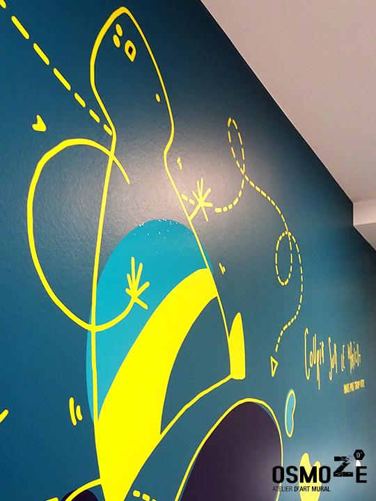 Décoration murale et signalétique artistique > Signalétique décorative > Crous Brunstatt>Shadock>proverbe>humour