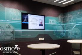 Décoration murale et signalétique artistique > Atelier Mercedes > Salle de co-working
