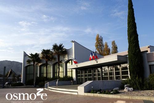 Décoration murale et signalétique artistique > Décoration et signalétique murale design> Agora Guilherand Granges > Entrée
