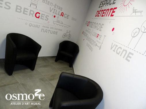 Décoration murale et signalétique artistique > Décoration et signalétique murale design> Agora Guilherand Granges > Couloir