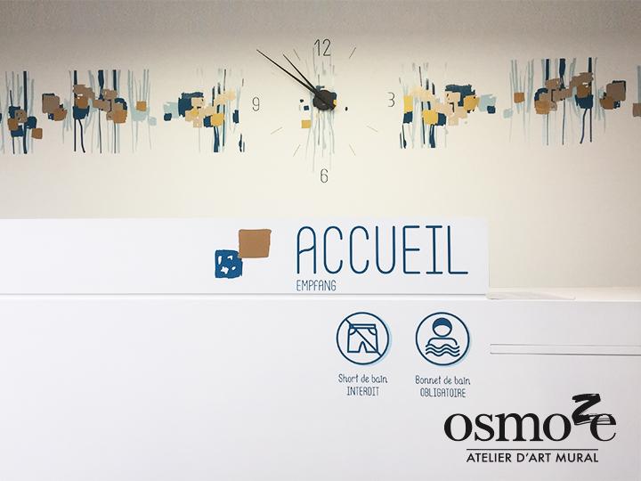Décoration murale et signalétique artistique > Signalétique décorative > Décoration et Signalétique Murale Moderne > Art Contemporain > Piscine Ferrette > Accueil
