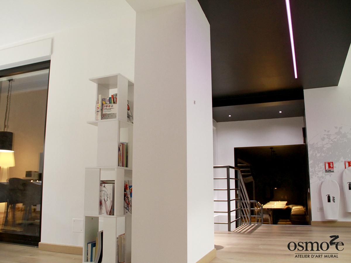 Décoration murale et signalétique artistique > Fresque design > Atelier Osmoze > Open space