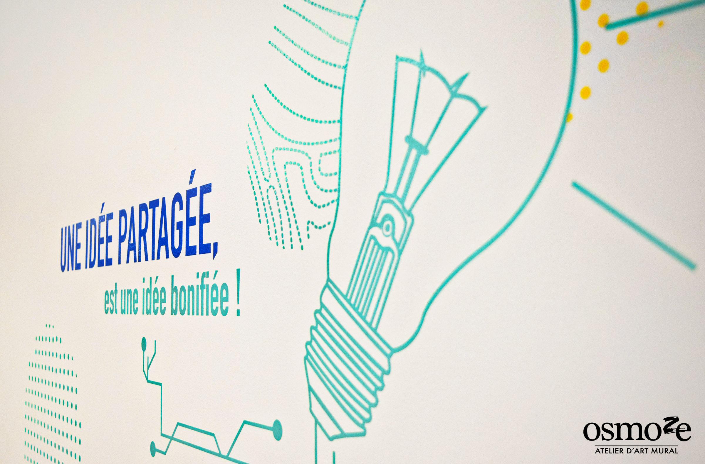 Osmoze > Décoration murale > ICADE > idée