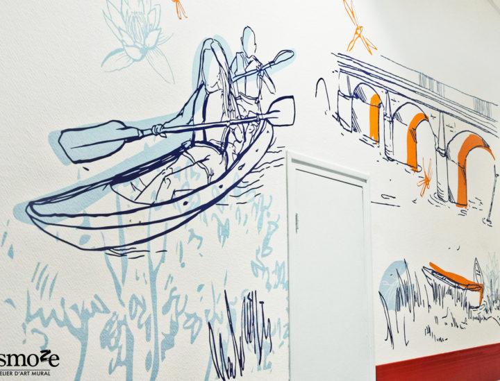 Osmoze > Décoration murale > Ehpad Chateauroux > Pont