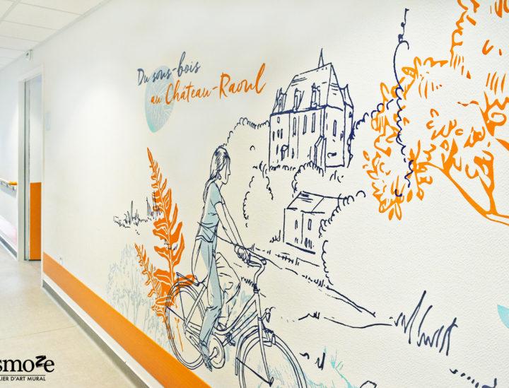 Osmoze > Décoration murale Ehpad > Décoration murale > Ehpad Chateauroux > Vélo