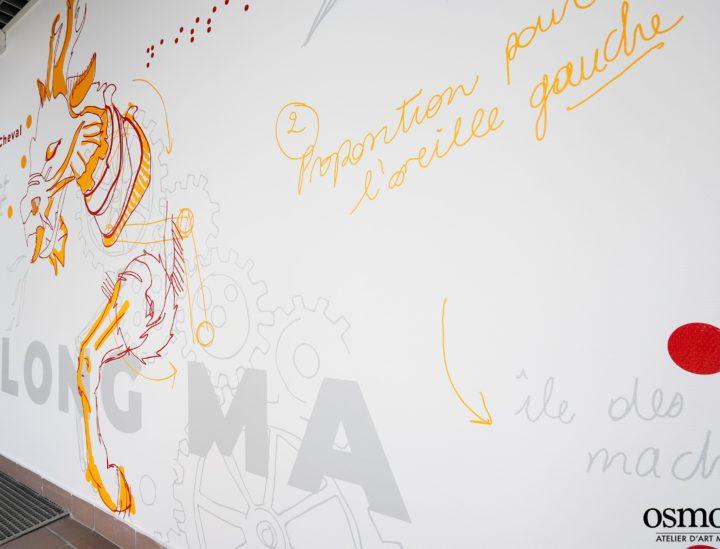 Décoration murale CROUS Nantes > Dragon cheval