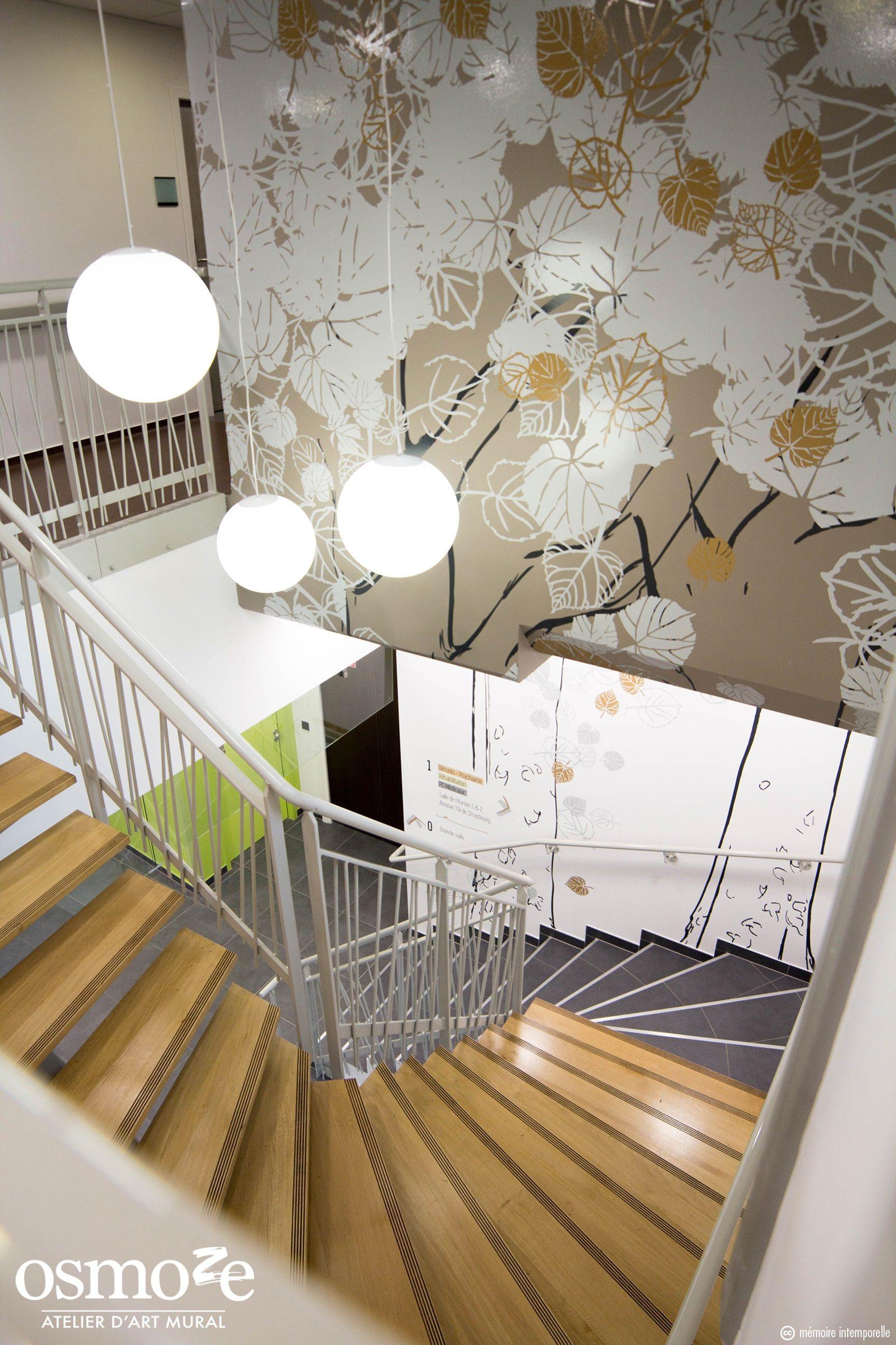 Décoration Murale Bureau Entreprise vitrophanie artistique et design muraux pour l'epsan - osmoze