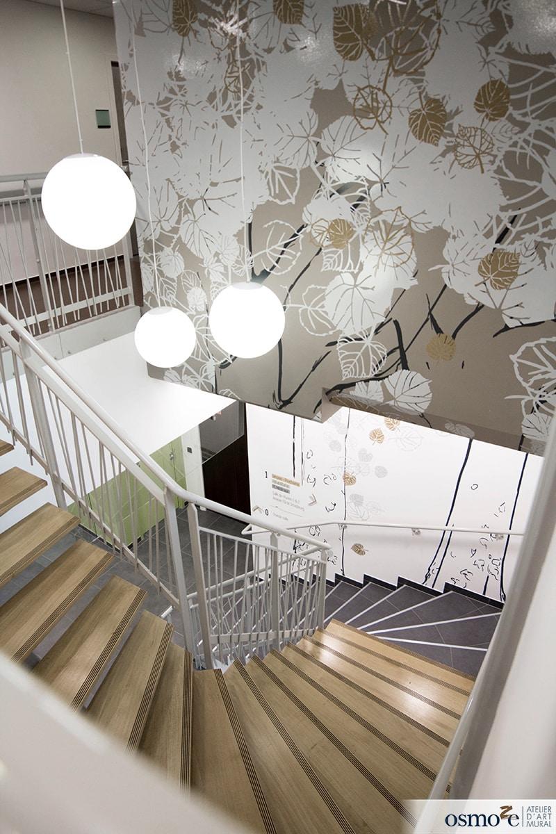 Vitrophanie artistique et design muraux pour l'EPSAN