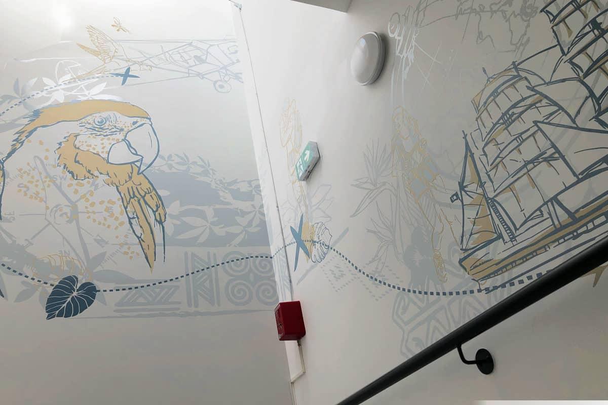 Voyage autour des fresques  à l'IME Cottolengo d' EPFIG