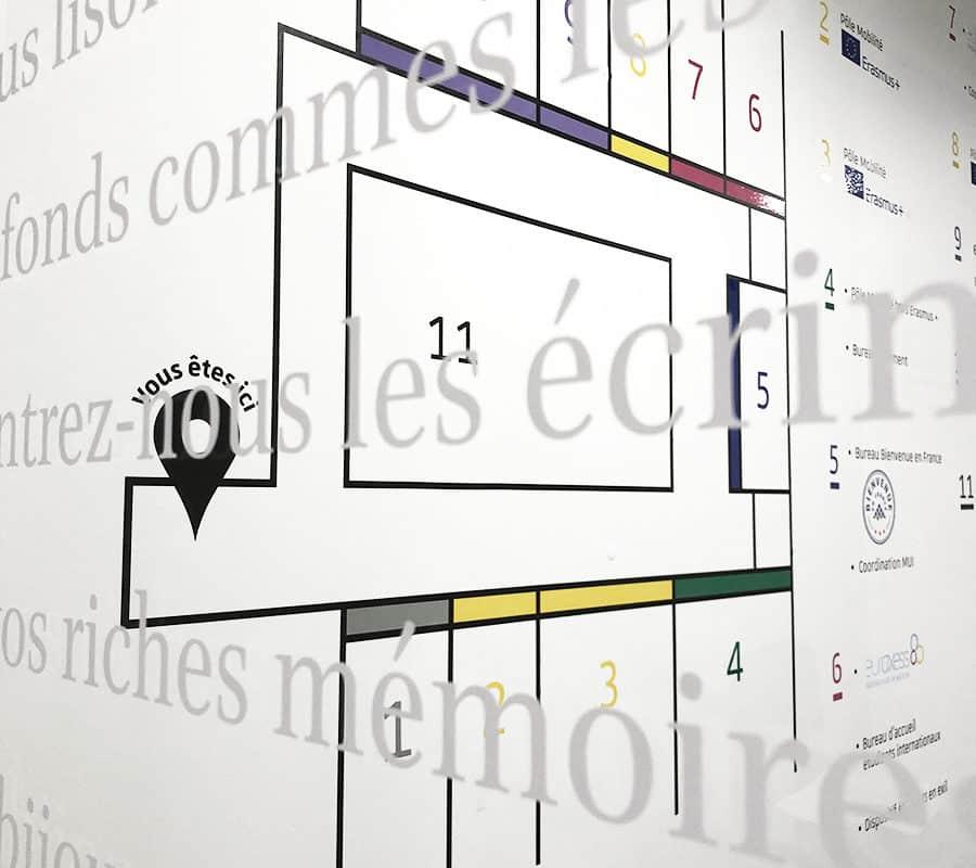 Décorations murales géographiques pour la Maison Universitaire Internationale à STRASBOURG