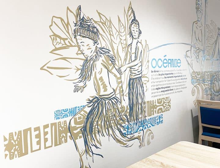 Décoration murale et signalétique artistique by Osmoze