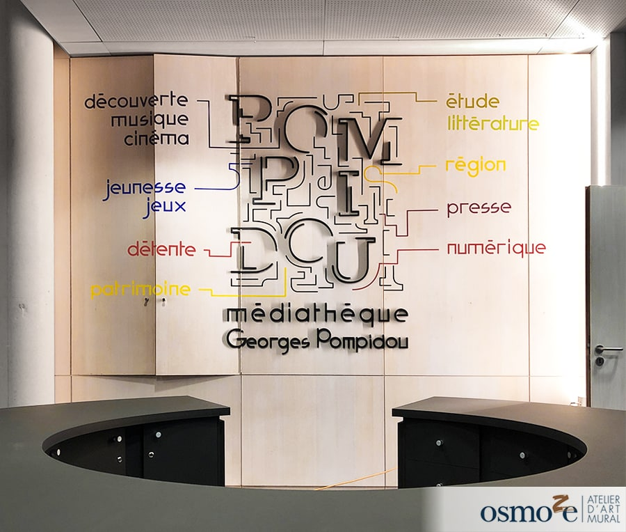 Signalétique artistique et contemporaine à la médiathèque Georges Pompidou – Châlons-en-Champagne (51)