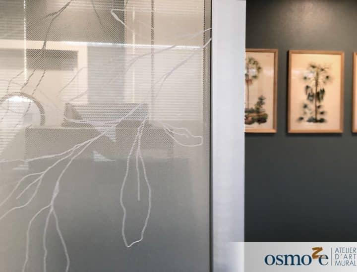 Vitrophanie végétale - Steelcase by Osmoze