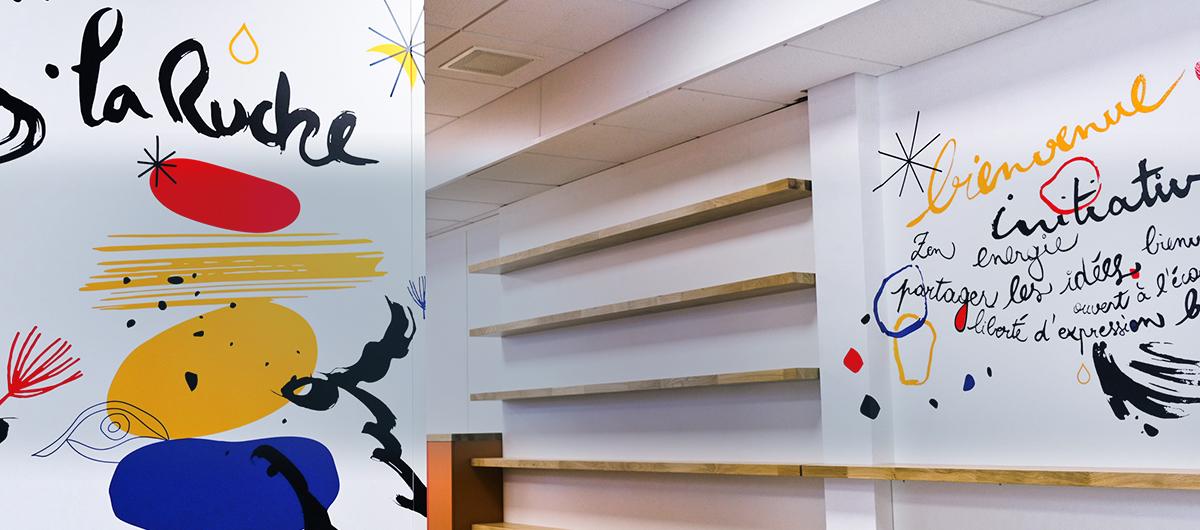 Décoration murale - Pôle Emploi by Osmoze