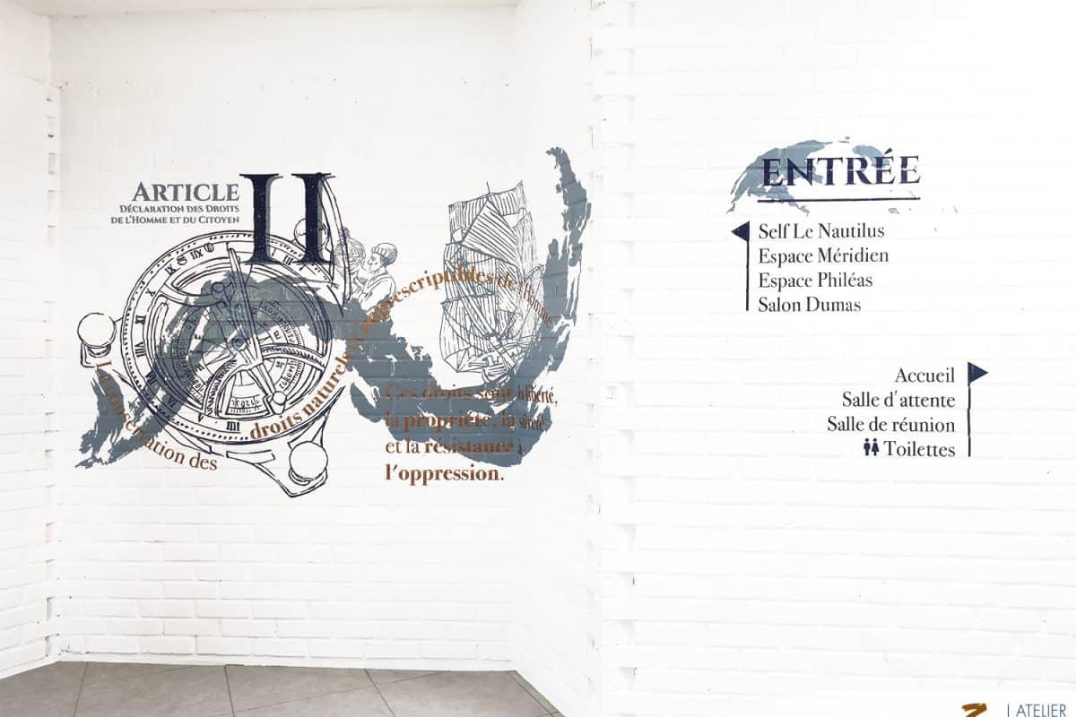 Décorations murales et signalétiques placées sous le signe des Droits de l'Homme et du citoyen – APEI- COYOLLES (02)