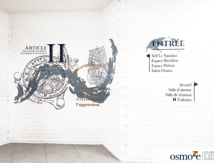 Décorations murales et signalétiques by Osmoze - APEI