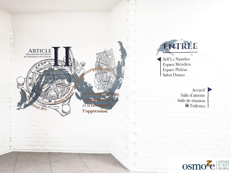 Wanddekoration und Beschilderung im Zeichen der Menschen- und Bürgerrechte – APEI- COYOLLES (02)