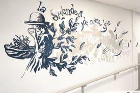 Décoration murale poétique à la Résidence le Bercail (83)