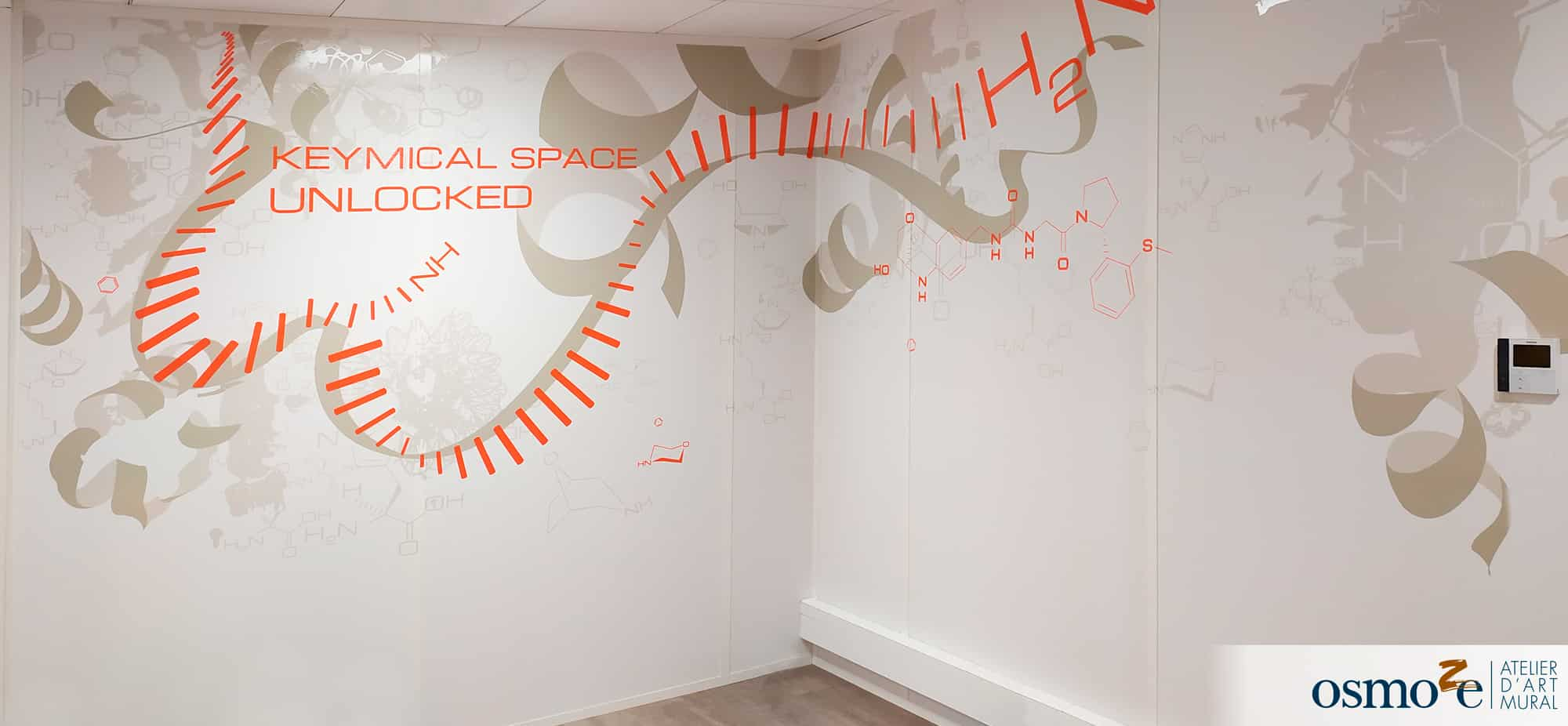 Immersion à l'échelle du microscopique grâce à la décoration murale – EDELRIS – LYON (69)