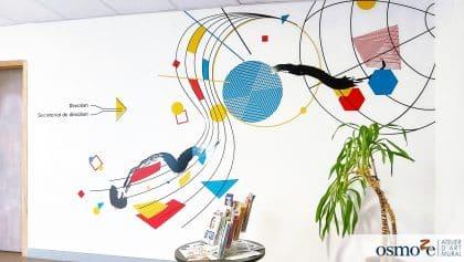 Le design mural joue avec les formes et les couleurs  – ETAPES – DÔLE (39)