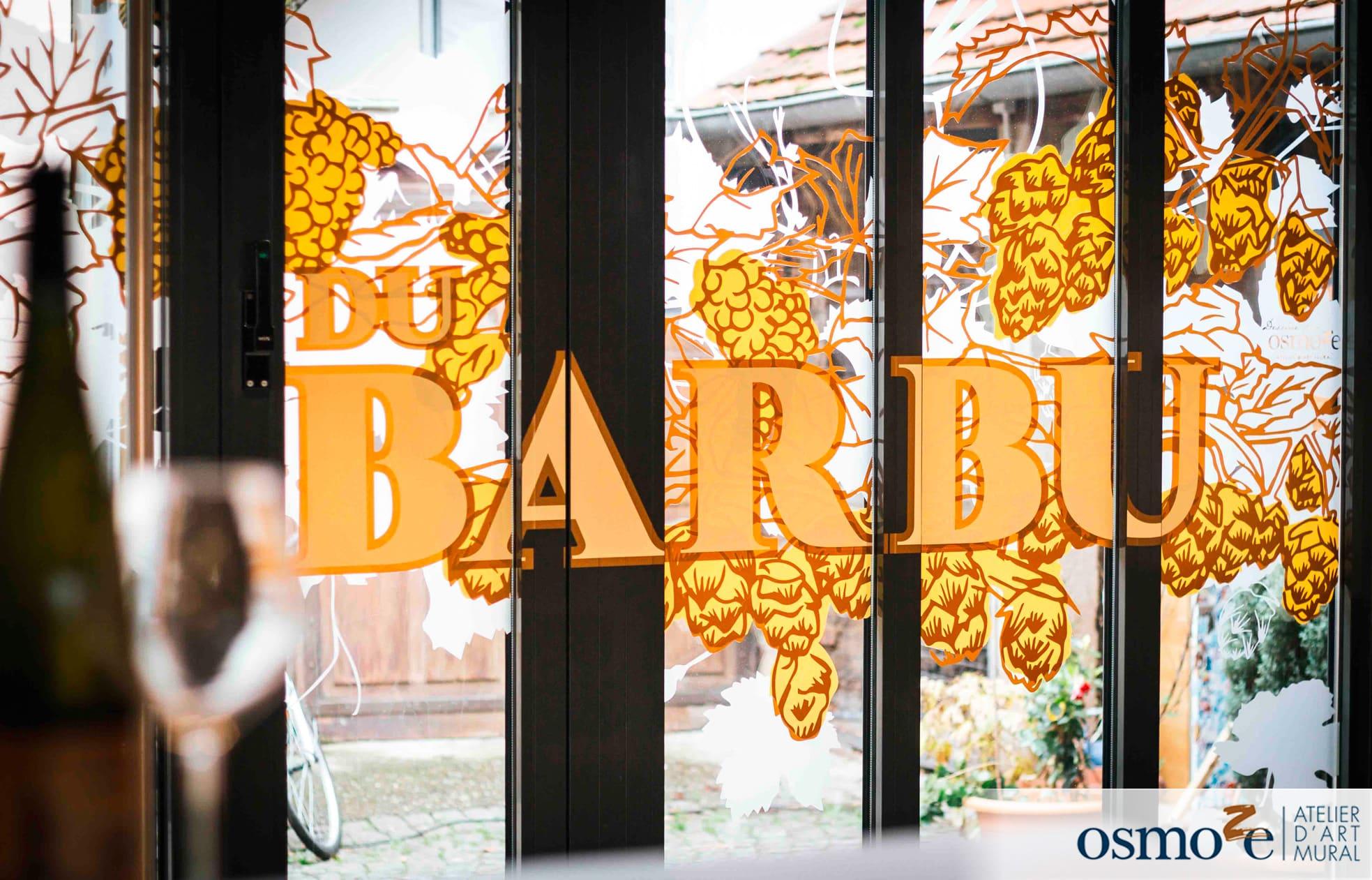 12 decor vitrine de restaurant la BARBU Molsheim